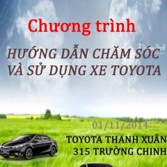 Toyota Thanh Xuân triển khai Chương trình Car Care 11/2014