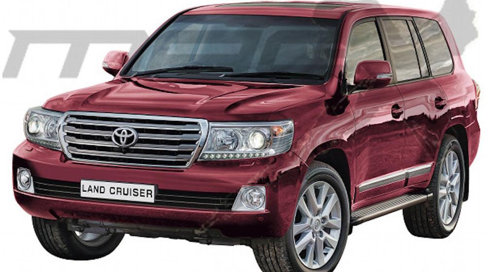 Ảnh dựng mẫu Toyota Land Cruiser phiên bản cải tiến sắp trình làng.