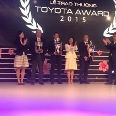 Toyota Thanh Xuân đạt giải Đại lý xuất sắc nhất 2015